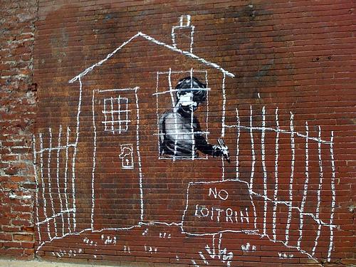Banksy No Loitrin